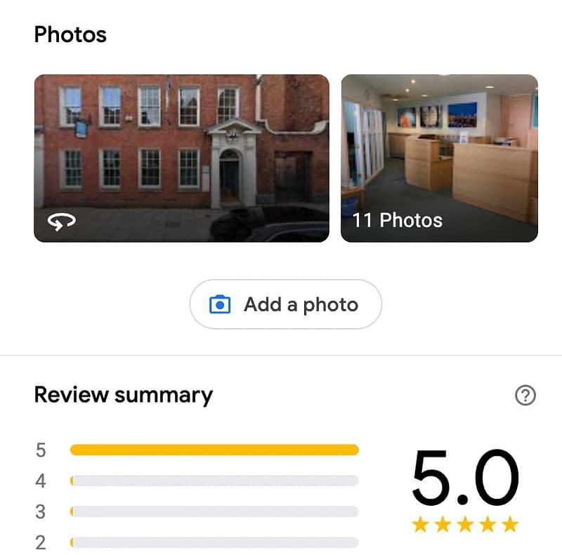 Worcester Web Dev photo gallery on google maps