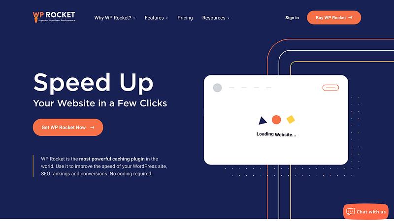 Wp Rocket Website Homepage