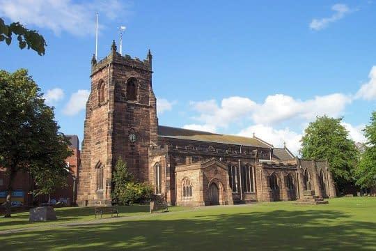 St Luke's church, Cannock, staffordshire, uk