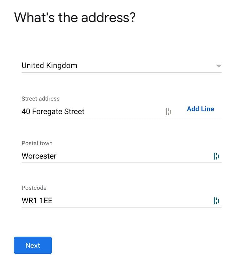 Entering business address on Google my Business