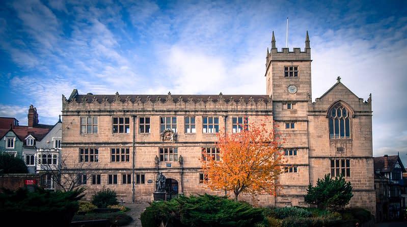Shrewsbury Library, shropshire, uk
