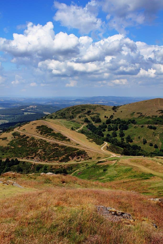 top of malvern hills, worcestershire, uk