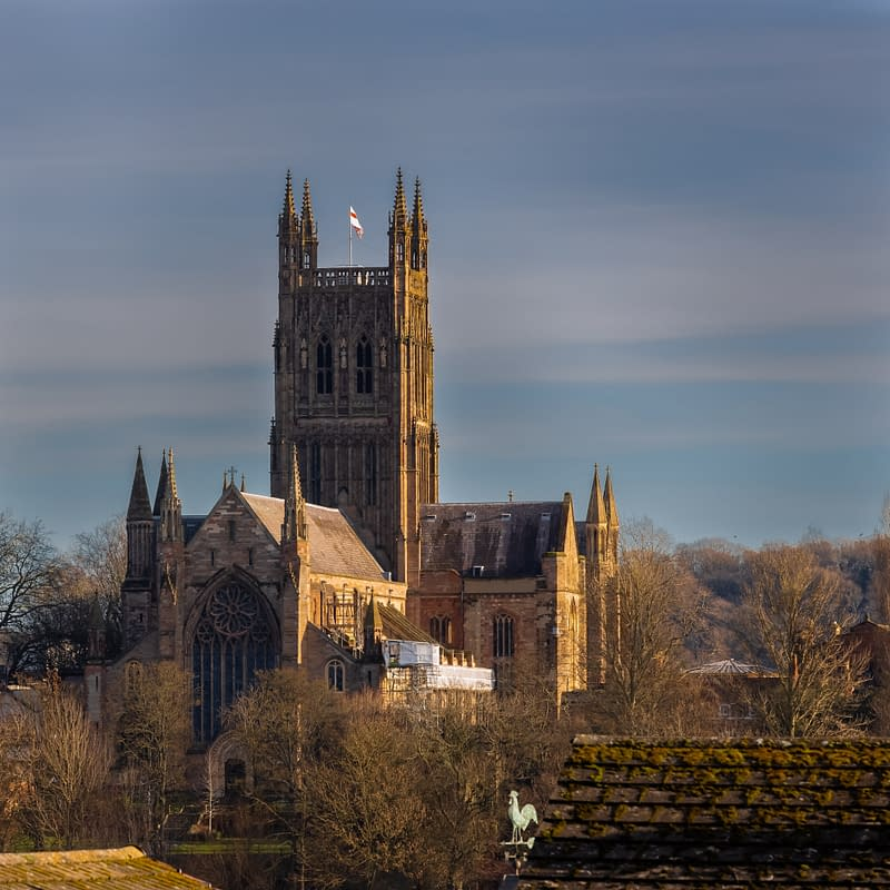 Worcester Cathedral, Worcestershire, uk
