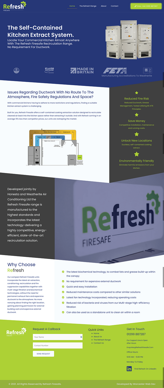 Refresh firesafe website homepage